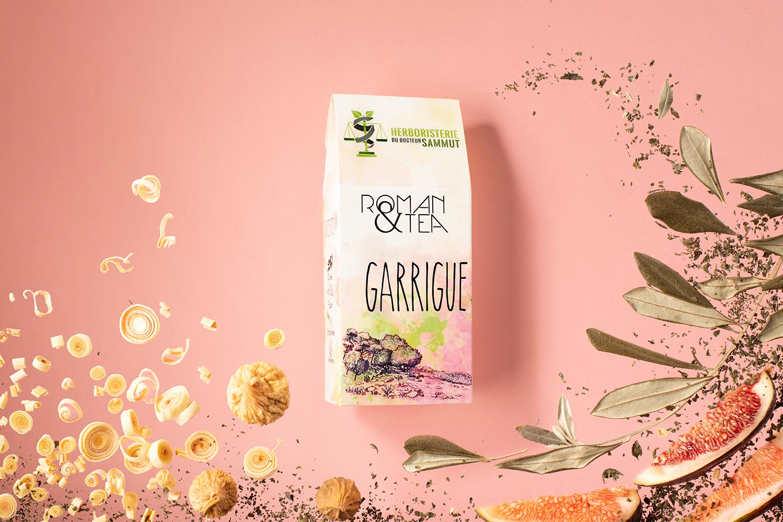 Thé Garrigue avec ses ingrédients